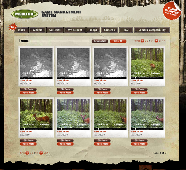 WeHuntSC.com - The Moultrie Game Management System Photo Viewing Interface
