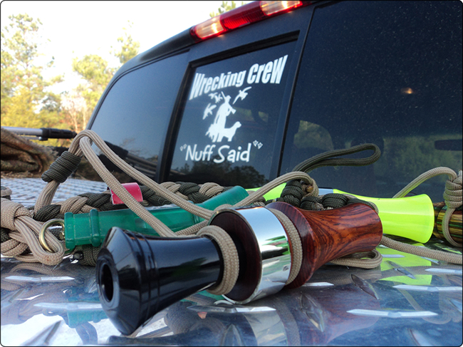 WeHuntSC.com - Duck Calls on the truck