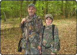 WeHuntSC.com - Hunting for a Cure - John and Tyler Largen turkey hunting in SC