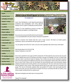 WeHuntSC.com - Hunting for a Cure Home page