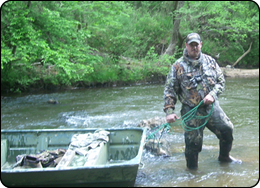 WeHuntSC.com - Hunting for a Cure - Jimmy Bradley and the boat