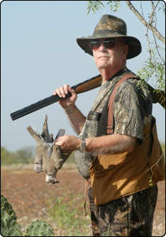WeHuntSC.com - Dove Hunter in Field