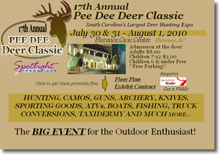 WeHuntSC.com - Pee Dee Deer Classic Website ScreenShot