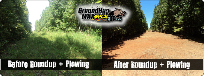 WeHuntSC.com - Before/After Pic of the Remote Food Plot on the Powerline