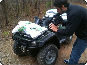 WeHuntSC.com - Tecomate Seed Food Plot Journey - 4-wheeler loaded with lime image