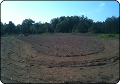WeHuntSC.com - Tecomate Seed Food Plot Journey - Food Plot Location 1 - The Right Side of the Field being dragged