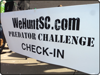 WeHuntSC.com - The Predator Challenge Check-In