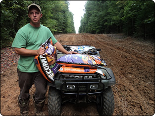 WeHuntSC.com - Adam in Food Plot with Tecomate Seed