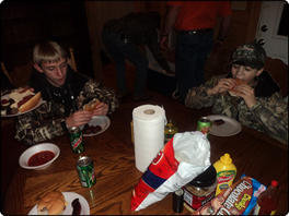 WeHuntSC.com - Eating a big dinner at the Youth Duck Hunt