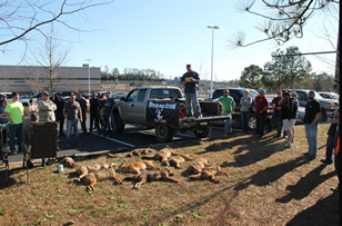 A pic from the 2013 WeHuntSC.com Predator Challenge Check-In
