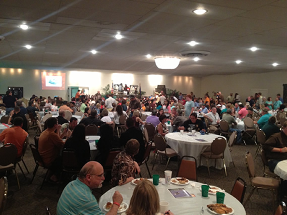 The crowd at the 2013 Lancaster County Ducks Unlimited Banquet