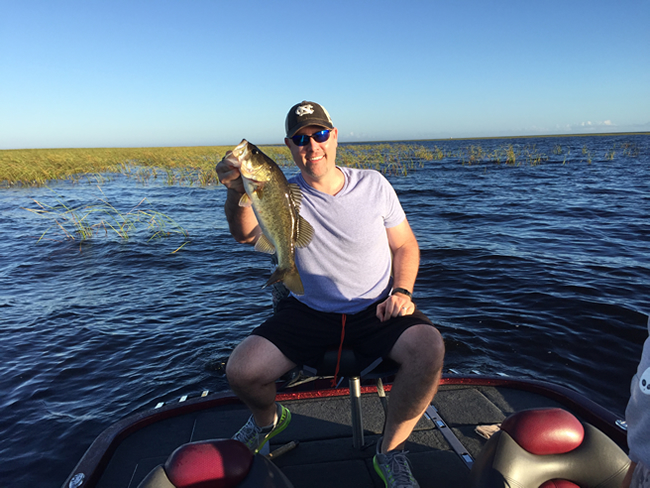 Clint Patterson with a Lake Okeechobee bass