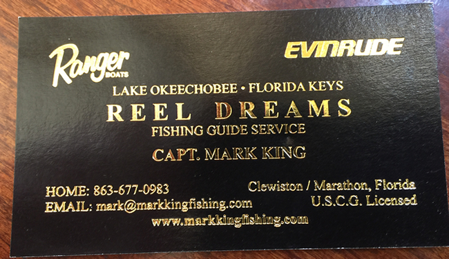 Mark King's Business Card