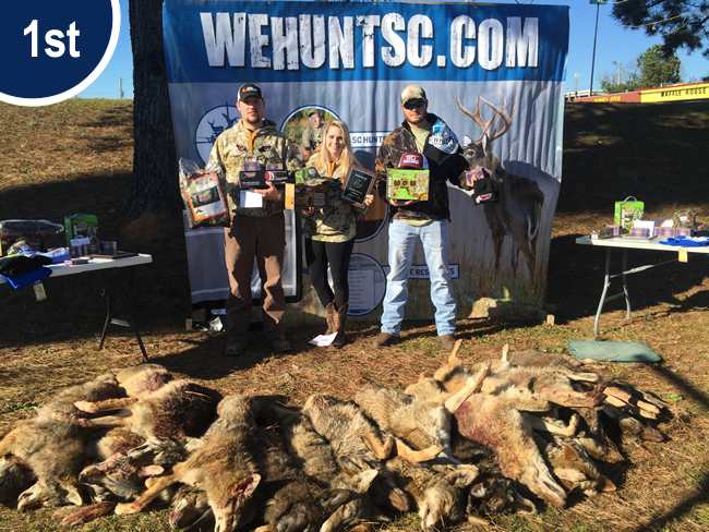 1st Place 2016 Coyote Hunting Competition