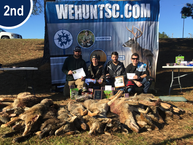 2nd Place 2016 Coyote Hunting Competition