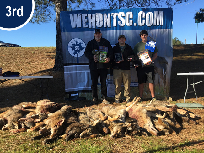 3rd Place 2016 Coyote Hunting Competition