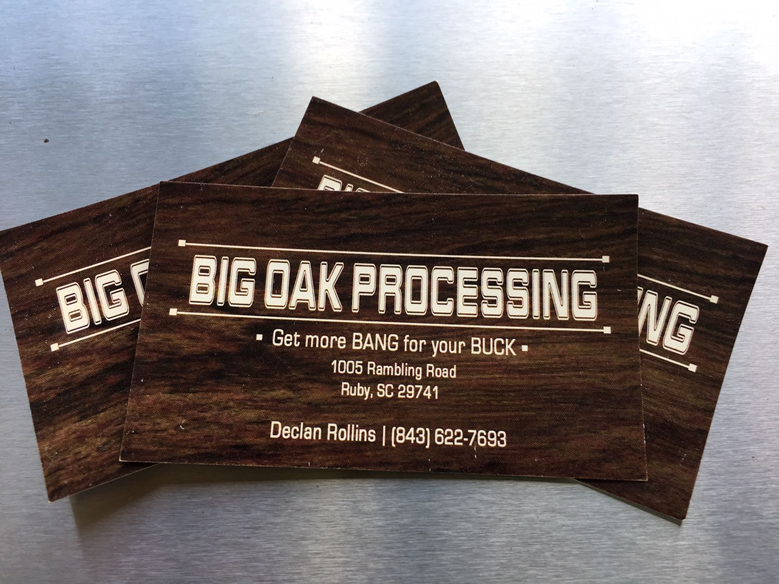Big Oak Processing - Ruby Sc