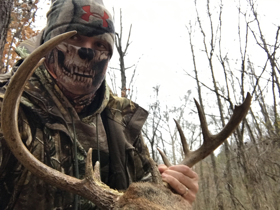 Clint Patterson with 12 point buck