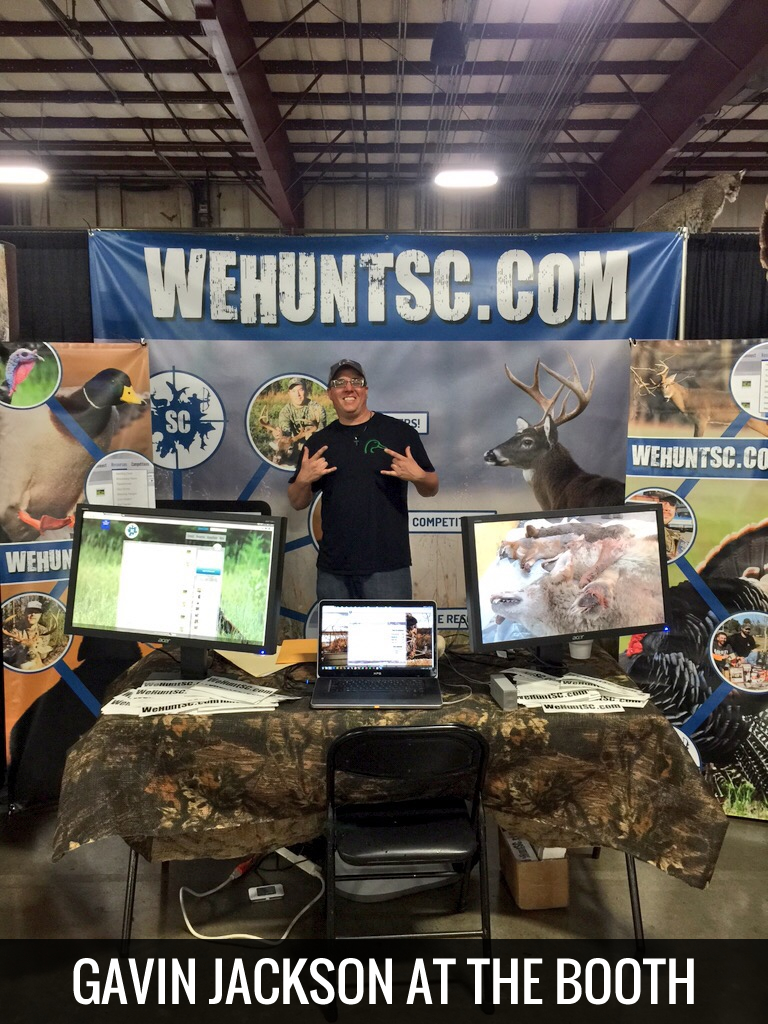 Gavin Jackson at the WeHuntSC.com Booth at the 2015 SC Sportsmen's Classic