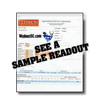 WeHuntSC.com - Example Soil Sample Readout